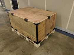 collapsible crate fully assembled