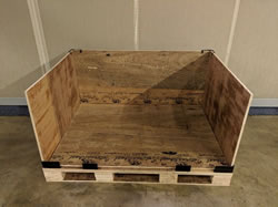 collapsible crate partially disassembled